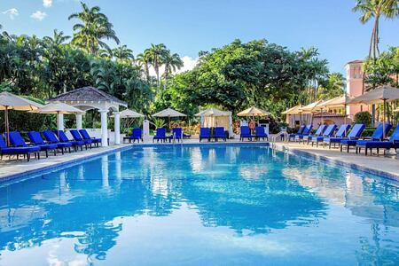 pool at fairmont royal pavilion hotel barbados