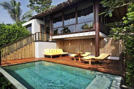 pool villa at six senses samui hotel thailand