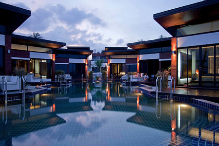 Poolside Villa Outsideat aava resort and spa thailand