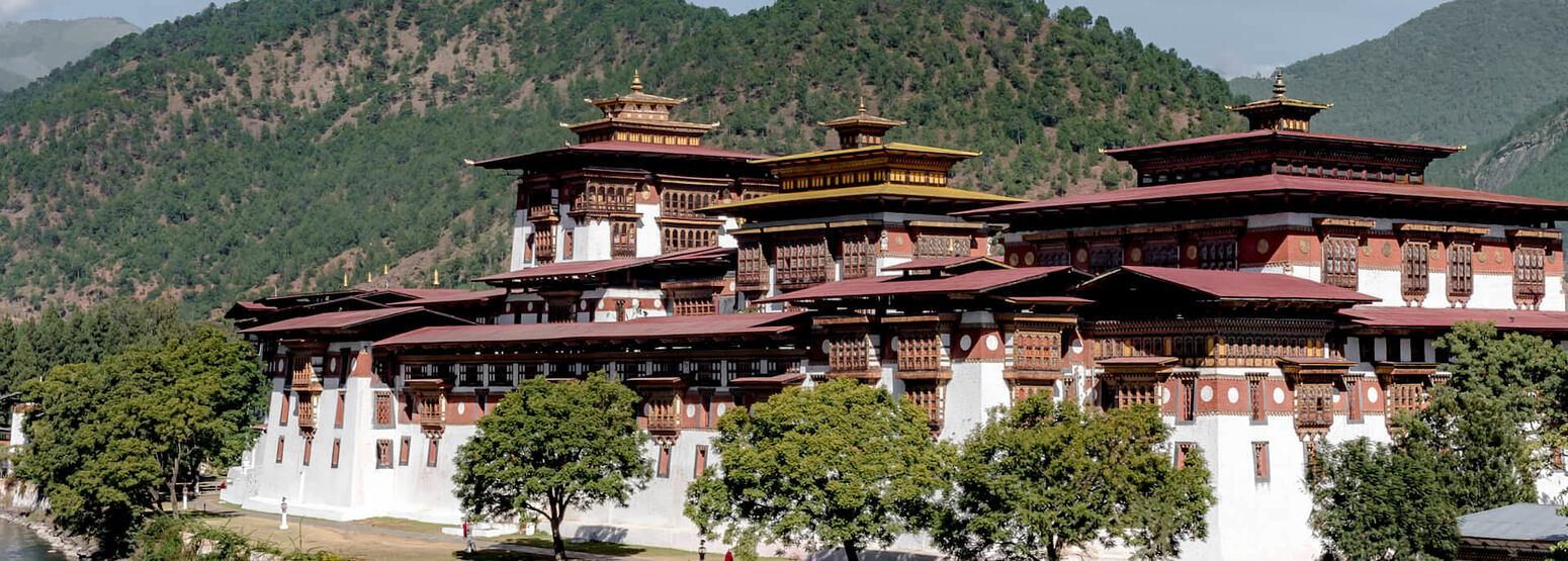 exterior at Amankora Punakha hotel bhutan