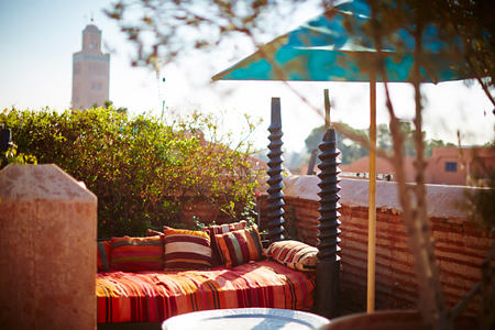 ROOF TERRACE at riad el fenn hotel morocco