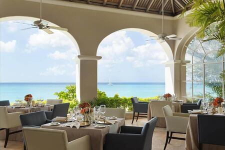dining at fairmont royal pavilion hotel barbados