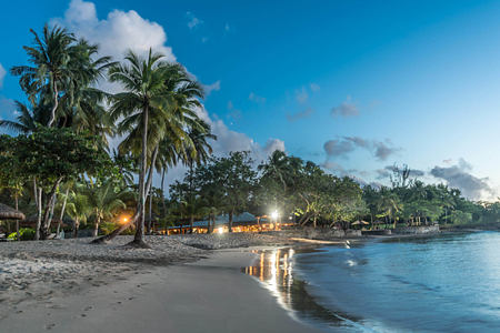 Reataurent-on-the-beach-at-night-at-east-winds-st-lucia