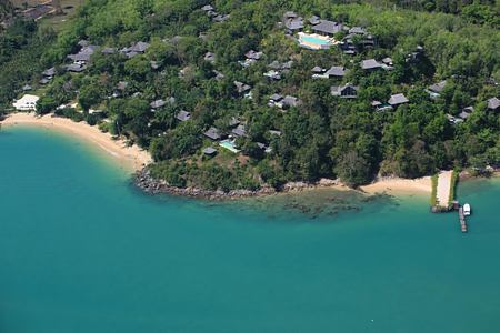 resort aerial view at six senses yao noi resort phuket thailand