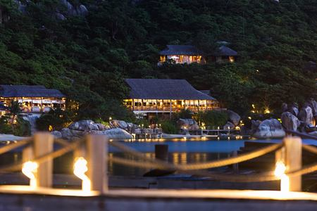 resort view from jetty at six senses ninh van bay