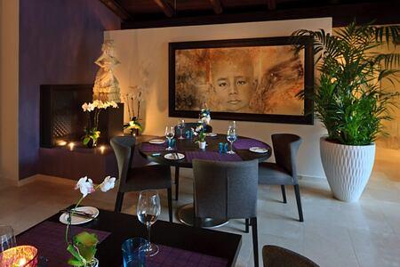 Restaurant at shanti som hotel spain