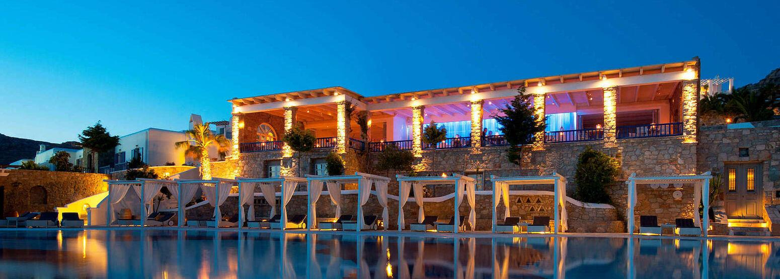 Restaurant Elevation at Mykonos Grand