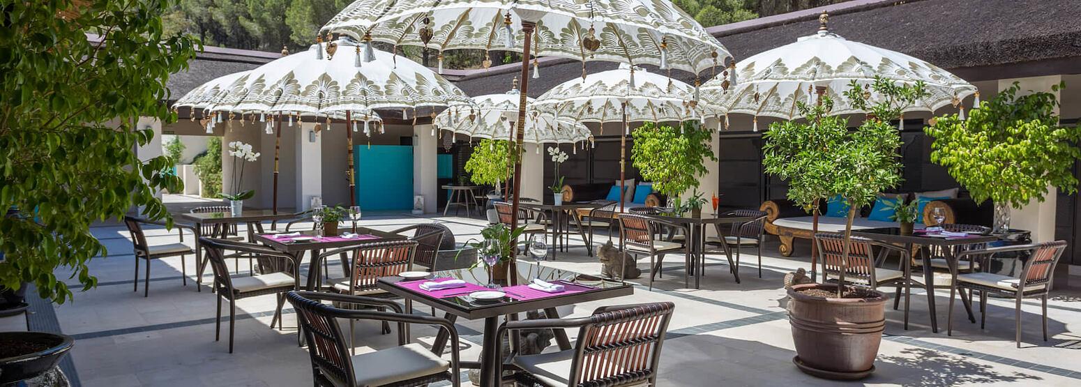 Restaurant Terrace at shanti som hotel spain