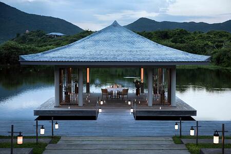 Romantic Lake Dinner at amanoi luxury resort vietnam