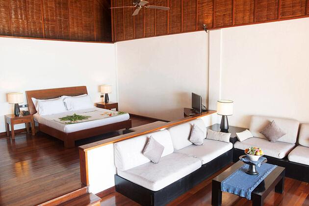 bedroom at palm beach resort and spa maldives