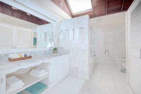 royal collection bathroom at spice island beach resort caribbean