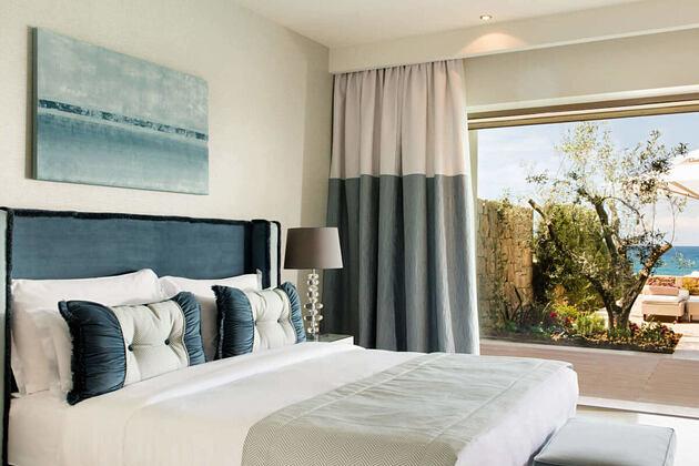 2 bedroom family private pool beach front at sani resort halkidiki greece