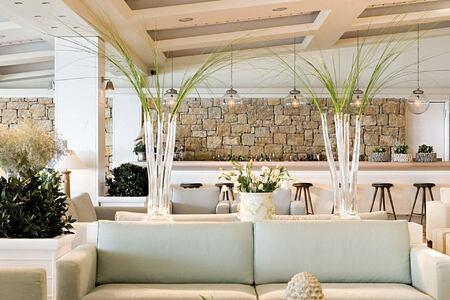 lobby at sani resort halkidiki greece