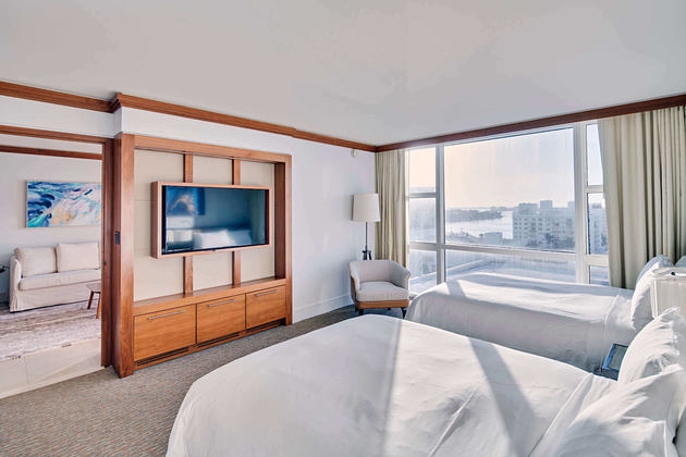 suite city view double bedroom at carillion hotel usa