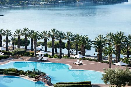 aerial view of sani resort halkidiki greece