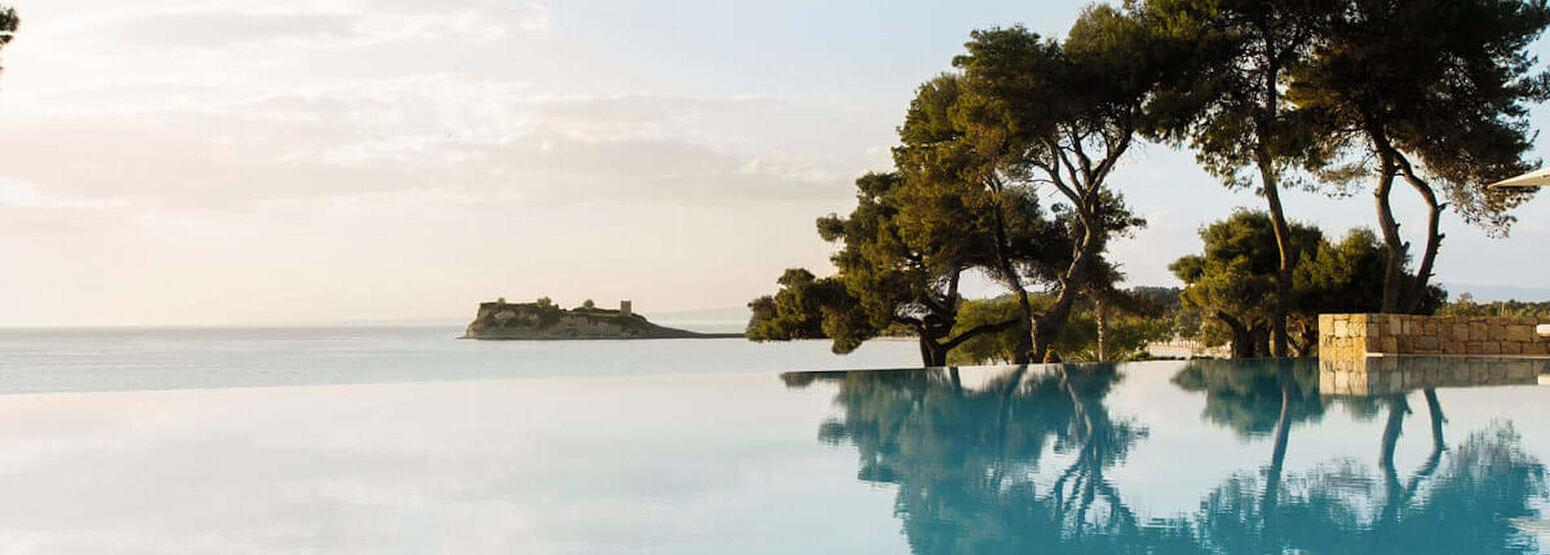 infinity pool at sani resort halkidiki greece