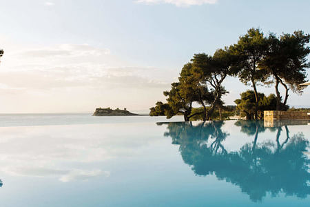 infinity pool at sani resort halkidiki greece