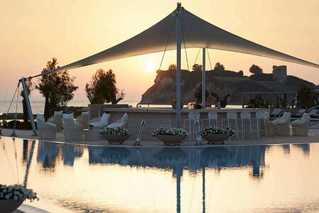sani dunes pool bar at sani resort halkidiki greece