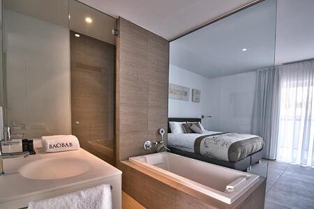 Serenity Rio Bedroom with en Suite Bathroom at baobab suites tenerife