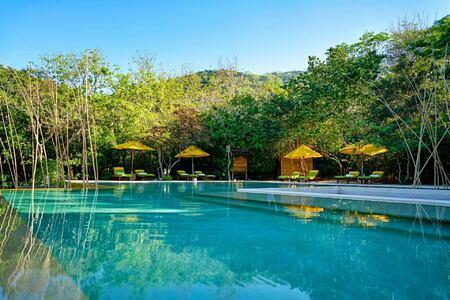 swimming pool at six senses ninh van bay