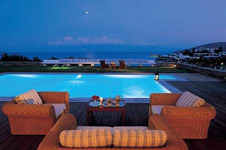 THE PALACE SUITE FRONT SEA VIEW PRIVATE HEATED POOL - exterior at elounda bay palace hotel greece
