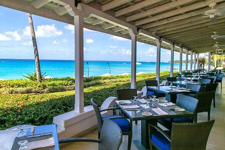 Taboras Sea View dining at fairmont royal pavilion hotel barbados