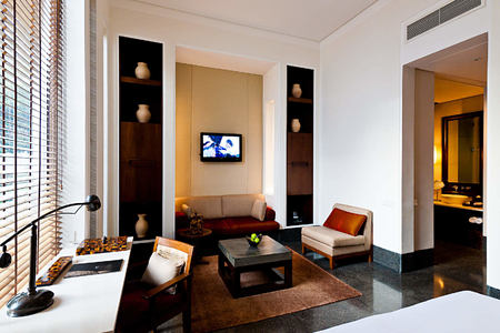 The Deluxe Room at the chedi hotel oman