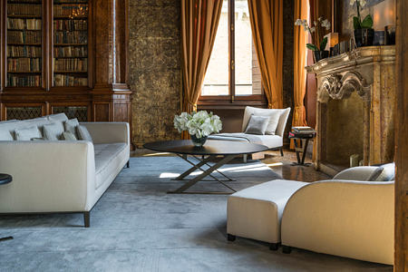 The library at aman hotel venice