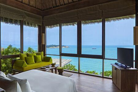 the retreat bedroom at six senses samui hotel thailand