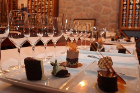 Chocolate Wine Tasting at ti kaye resort and spa jamaica