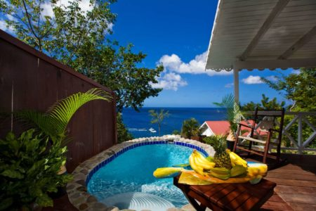Private plunge pool at ti kaye resort and spa jamaica