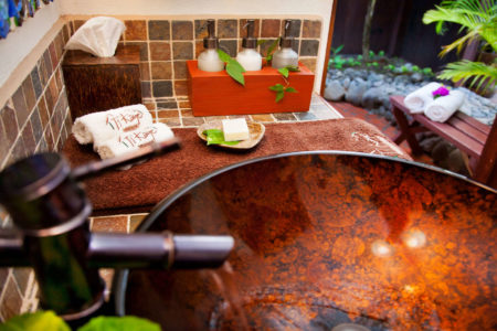 Room bathrooms at ti kaye resort and spa jamaica