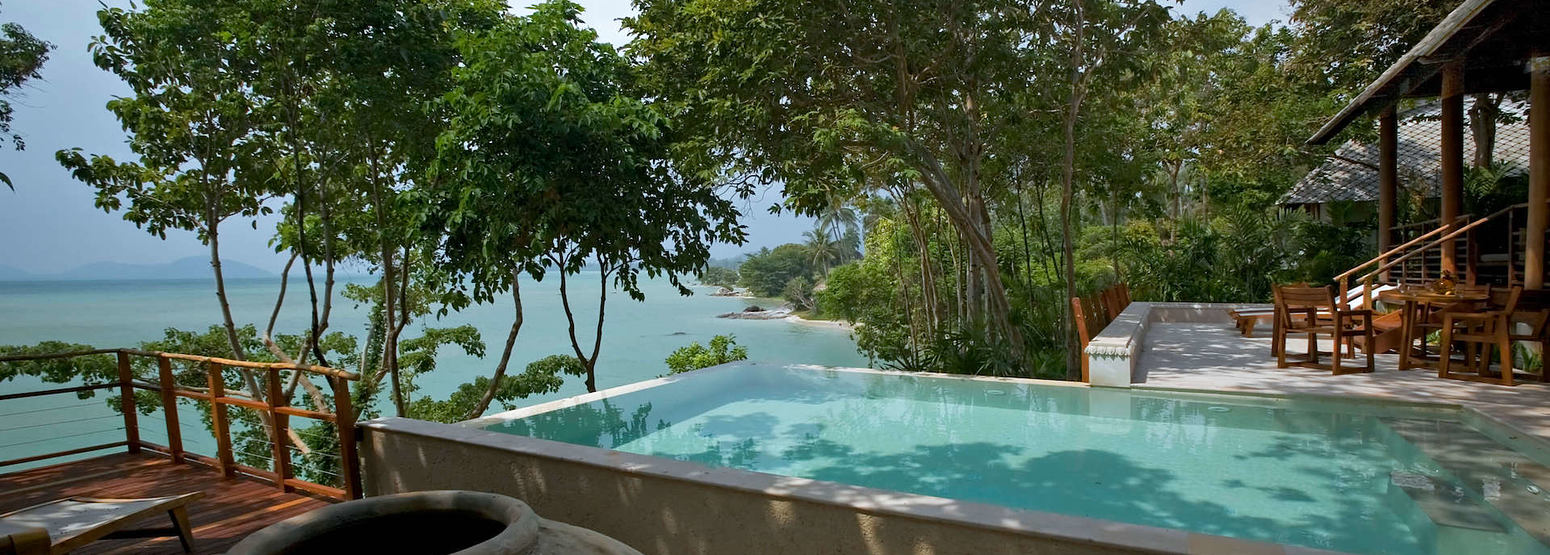Two bedroom beach front pool villa at kamalaya resort koh samui thailand