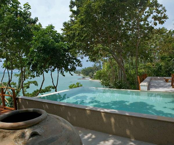 Two bedroom beach front pool villa at kamalaya resort koh samui thailand