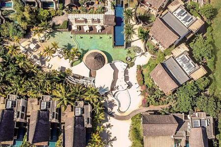 aerial view at angsana balaclava hotel mauritius