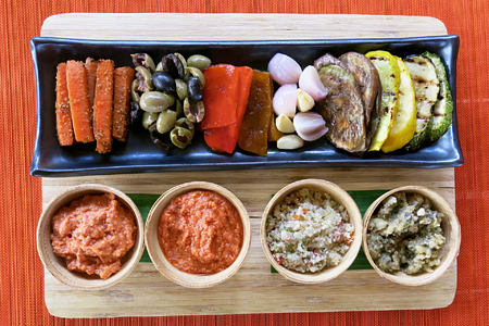 vegan mezze plate at six senses con dao hotel vietnam