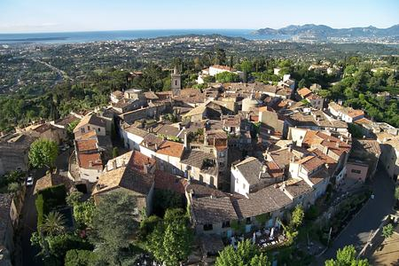 aerial view of le mas candille france
