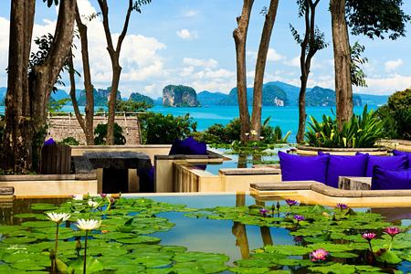 view from the den at six senses yao noi resort phuket thailand