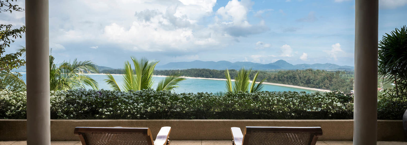 villa bedroom veranda views at amanpuri hotel phuket
