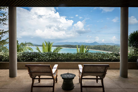 villa bedroom veranda views at amanpuri hotel phuket