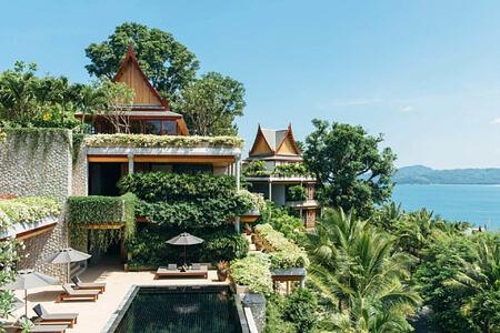 villa exterior at amanpuri hotel phuket