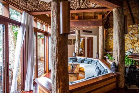 Villa living area at song saa resort cambodia