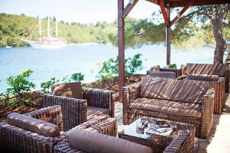 Vista Mare beach bar Tavern at Hotel Odisej Croatia