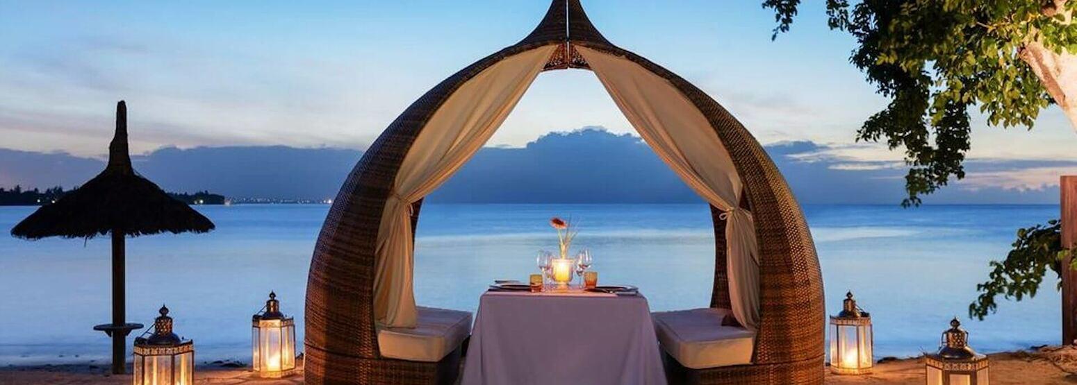 private beach dining at angsana balaclava hotel mauritius