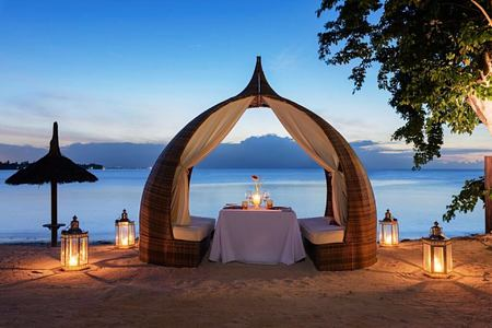 private beach dining at angsana balaclava hotel mauritius