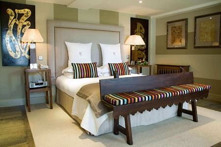 Woodchester bedroom at calcot manor england uk