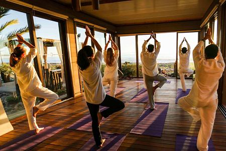 Yoga at paradis plage morocco
