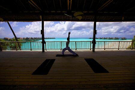 Yoga at Six Senses Spa at six senses laamu hotel maldives