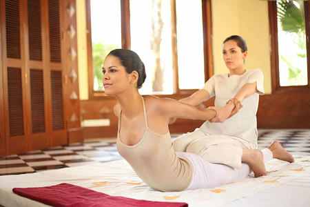 yoga at ananda himalayas hotel india