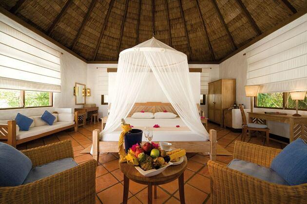 villa bedroom at coco palm dhuni kolhu resort maldives